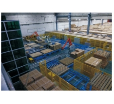 Automatic palletizing logistics line