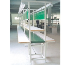 Long work table belt line